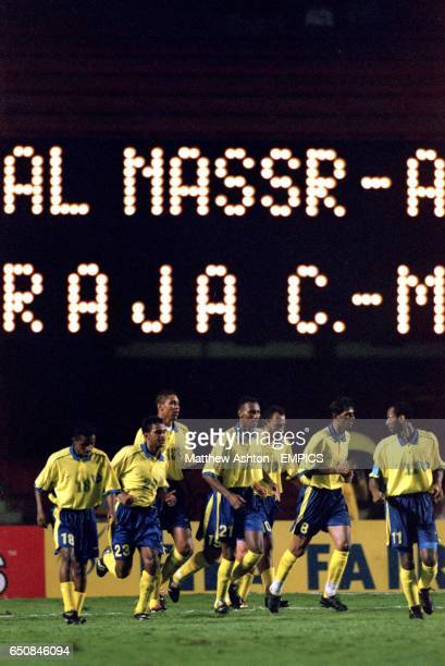 AlNassr celebrate one of their goals during their 43 victory
