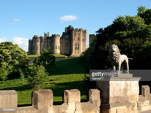 alnwick castle, northumberland - northumberland stock pictures, royalty-free photos & images