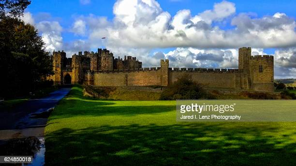 alnwick castle (england) - alnwick castle stock photos and pictures
