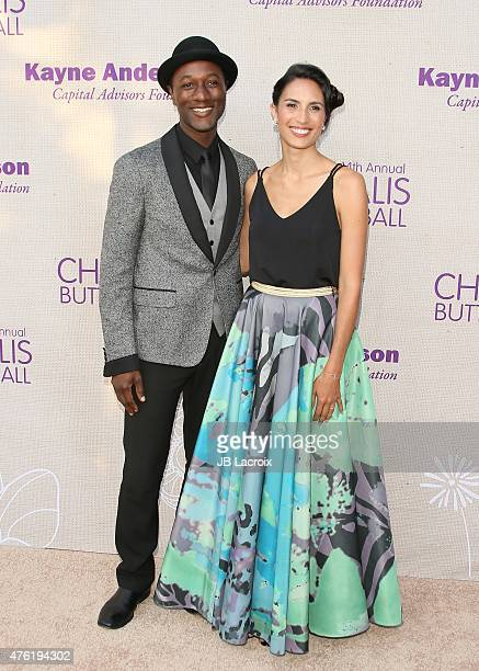Aloe Blacc and Maya Jupiter attend the 14th annual Chrysalis Butterfly Ball sponsored by Audi Kayne Anderson Lauren B Beauty and Z Gallerie on June 6...