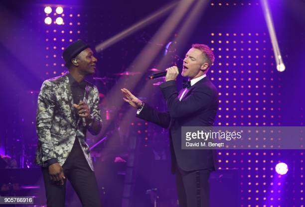 Aloe Blacc and Ronan Keating perform at the IWC Schaffhausen Gala celebrating the Maison's 150th anniversary and the launch of its Jubilee Collection...