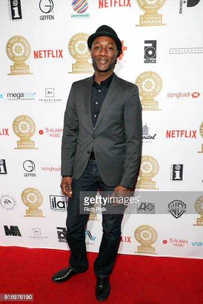 Aloe Blacc attends the 8th Annual Guild of Music Supervisors Awards at The Theatre at Ace Hotel on February 8 2018 in Los Angeles California