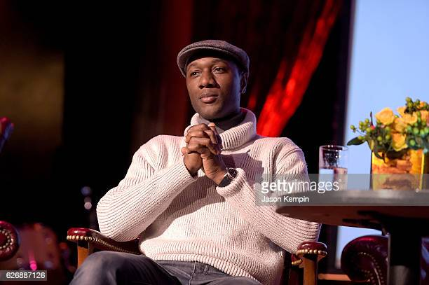 Aloe Blacc attends the GRAMMY Town Hall NYC event at The Cutting Room on November 30 2016 in New York City