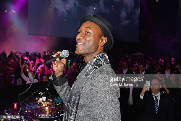 Aloe Blacc attends the IWC Journey To The Stars Gala Dinner during the Salon International de la Haute Horlogerie 2015 on January 20 2015 in Geneva...
