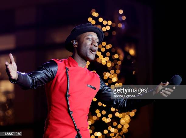 Aloe Blacc performs at Christmas at The Grove A Festive Tree Lighting celebration at The Grove on November 17 2019 in Los Angeles California