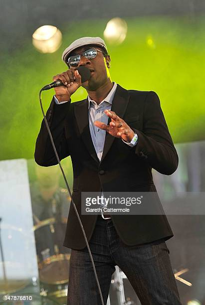 Aloe Blacc performs at House Festival Chiswick House Gardens on July 5 2012 in London England The festival from the Soho House Group supports The...
