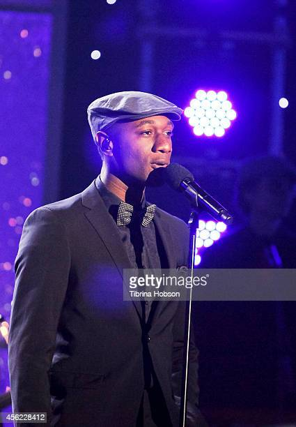 HOLLYWOOD CA MAY 13 Aloe Blacc performs at the 2014 MDA show of strength telethon at the Hollywood Palladium on May 13 2014 in Hollywood California