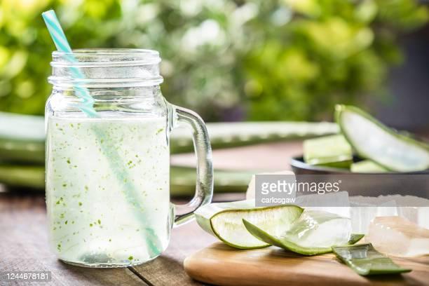 aloe vera drink - aloe vera plant stock pictures, royalty-free photos & images
