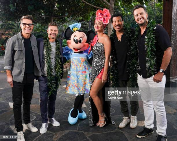 IDOL Aloha Music industry legends and allstar judges Luke Bryan Katy Perry and Lionel Richie along with Emmy winning producer and host Ryan Seacrest...