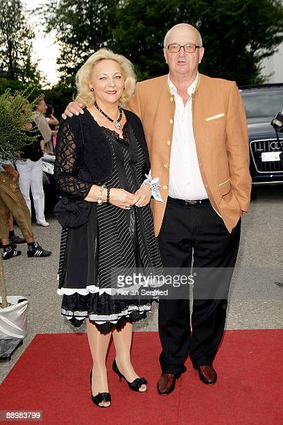 Alois Harlt and wife attend a party after 'Kaiser Cup 2009' golf tournament at the Hartl Resort Event Hall on July 11 2009 in Bad Griesbach Germany