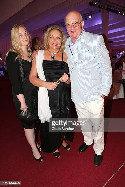 Alois Hartl and his wife Gabriele and their daughter Victoria Hartl during the Kaiser Cup 2015 golfcup and gala on July 11 2015 in Bad Griesbach near...