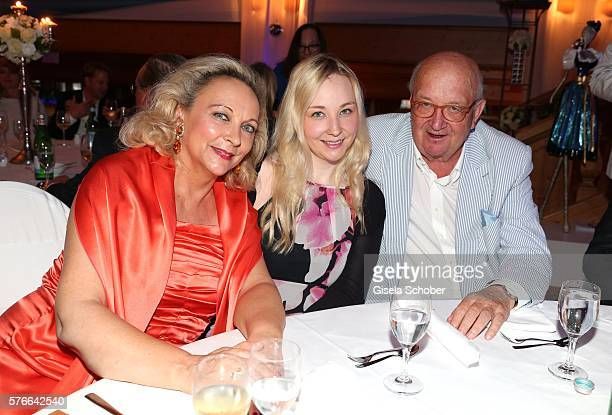 Alois Hartl and his wife Gabriele and their daughter Victoria Hartl during the Kaiser Cup 2016 gala on July 16 2016 in Bad Griesbach near Passau...