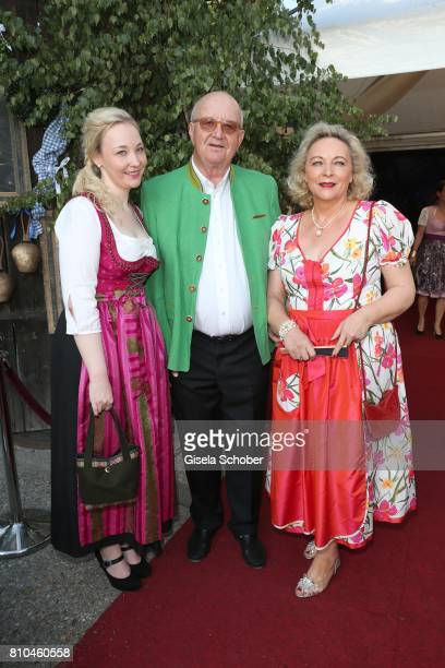 Alois Hartl and his wife Gabriele and their daughter Victoria Hartl during a bavarian evening ahead of the Kaiser Cup 2017 at the Quellness Golf...