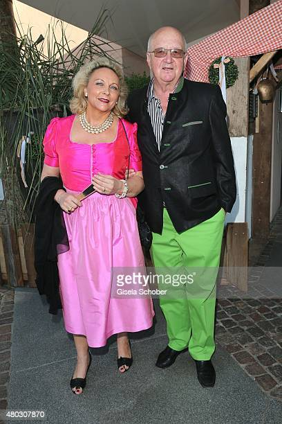 Alois Hartl and his wife Gabriele during a Bavarian Evening ahead of the Kaiser Cup 2015 on July 10 2015 in Bad Griesbach near Passau Germany