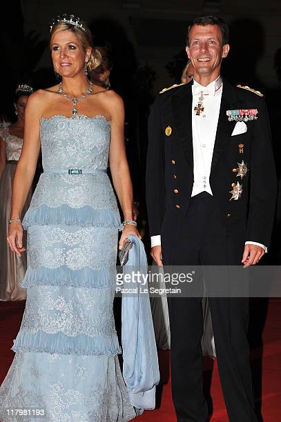 Alois Philipp Maria Hereditary Prince of Liechtenstein attends a dinner at Opera terraces after their religious wedding ceremony on July 2 2011 in...