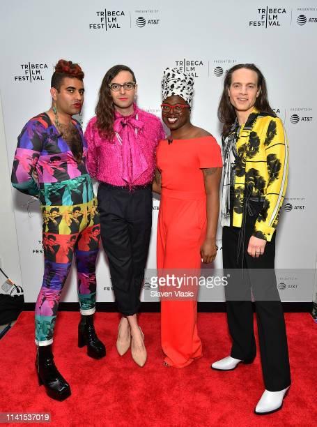 Alok Vaid Menon Jacob Tobia TreÕvell Anderson and Jordan Roth attend Tribeca Celebrates Pride Day at 2019 Tribeca Film Festival at Spring Studio on...