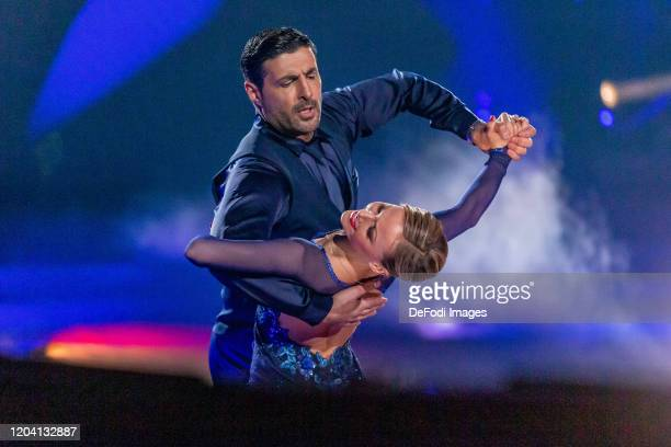 Alona Uehlin and Suekrue Pehlivan looks on during the 1st show of the 13th season of the television competition Let's Dance on February 28 2020 in...