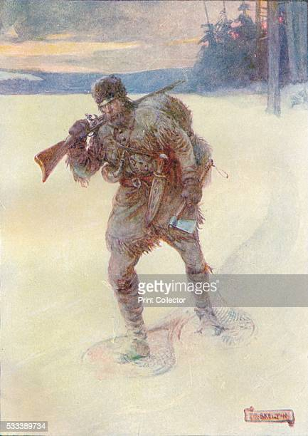 Alone Across The Trackless Snow' from 'Our Empire Story' by HE Marshall c1920 RenÚRobert Cavelier Sieur de La Salle or Robert de La Salle French...