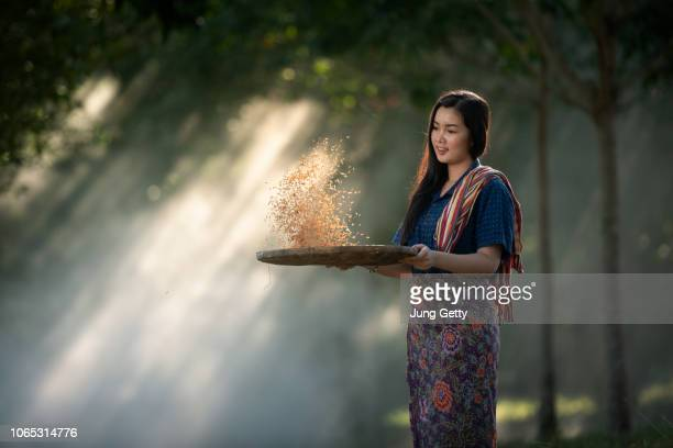 alone asian girl country of thailand - 南東 ストックフォトと画像