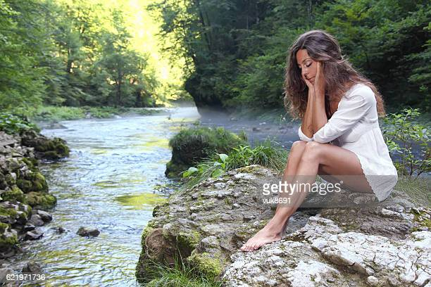 alone in the forest - kupa river stock pictures, royalty-free photos & images