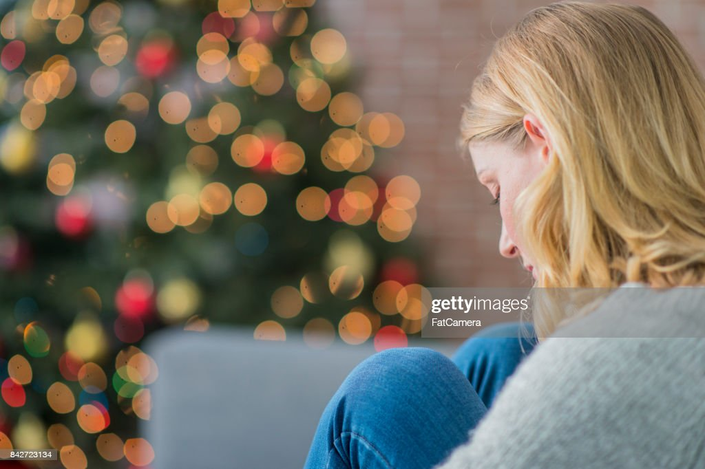 Alone On Christmas : Stock Photo