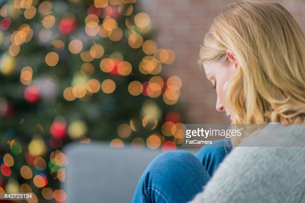 alone on christmas - sadness stock pictures, royalty-free photos & images