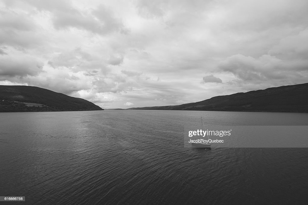 Alone on Loch Ness : Stock Photo
