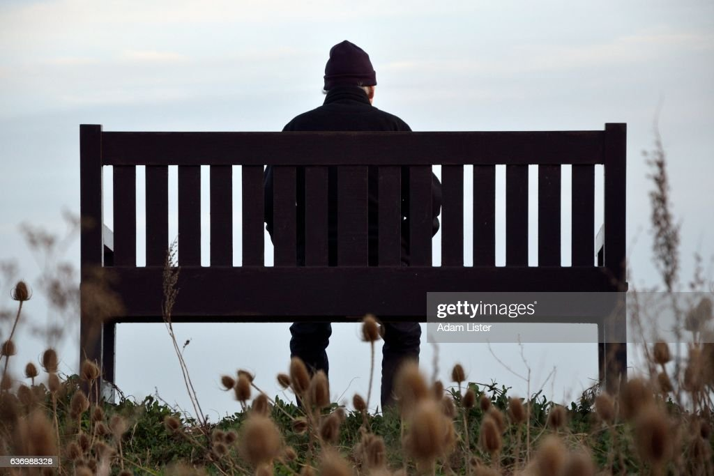 Alone on the bench : Stock Photo