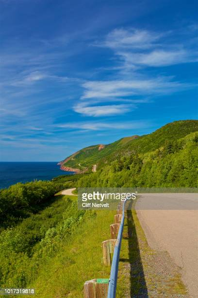 along he cabot trail - cape breton island stock pictures, royalty-free photos & images