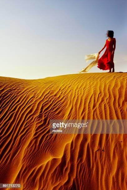 dans le désert - femme marocaine photos et images de collection