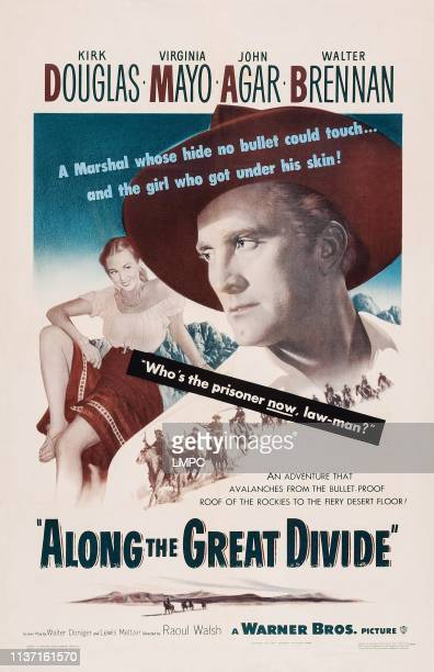 Along The Great Divide poster from left Virginia Mayo Kirk Douglas 1951