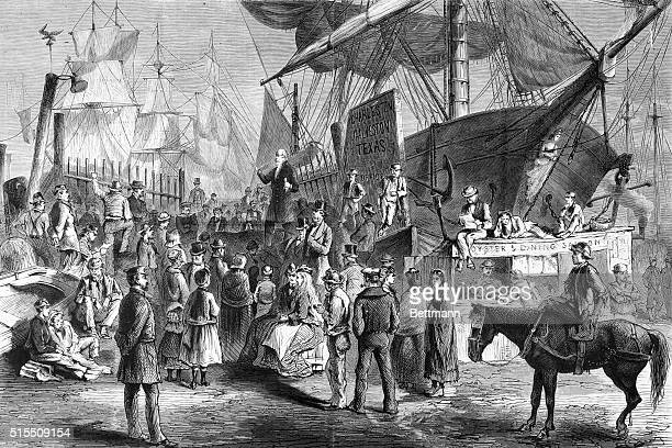 Along the New York docks preaching in the open air Harper's Weekly