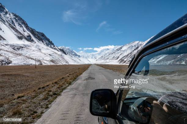 along the pamir highway - kyrgyzstan stock pictures, royalty-free photos & images