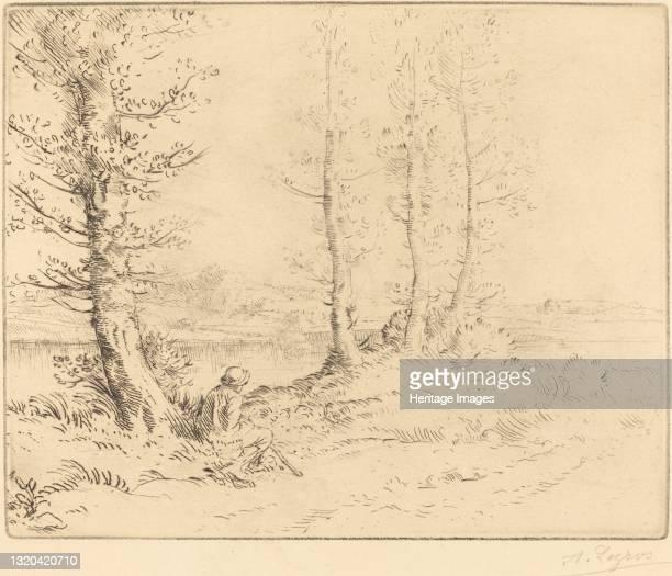 Along the River . Artist Alphonse Legros.