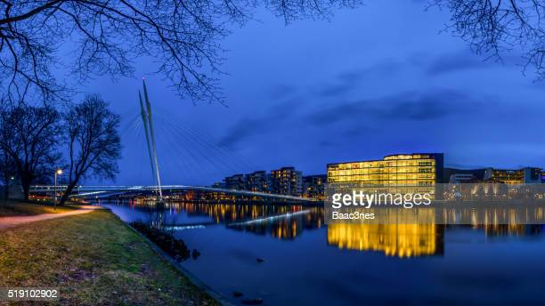 Along the river in Drammen, Norway