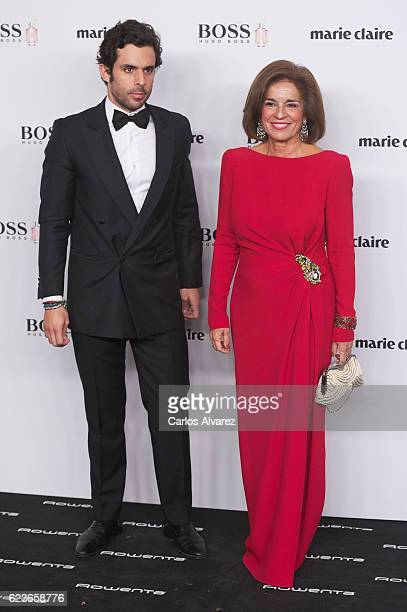 Alonso Aznar and Ana Botella attend 'Marie Claire Prix De La Moda' Awards 2016 at Florida Park Club on November 16 2016 in Madrid Spain