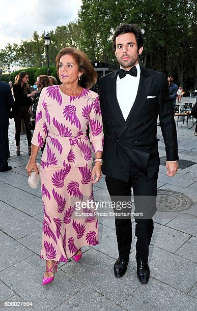 Alonso Aznar and Ana Botella attend the opening of the Royal Theatre new season on September 15 2016 in Madrid Spain