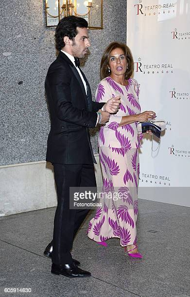 Alonso Aznar and Ana Botella attend the Royal Theatre opening season concert on September 15 2016 in Madrid Spain
