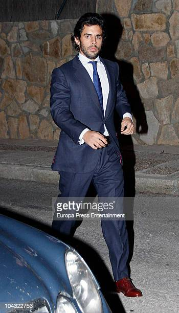 Alonso Aznar attends a private party at Javier Hidalgo's home on September 20 2010 in Madrid Spain