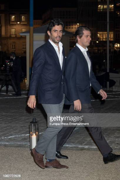 Alonso Aznar is seen attending Marta Ortega's Wedding preparty at Nautical Club on November 16 2018 in A Coruna Spain