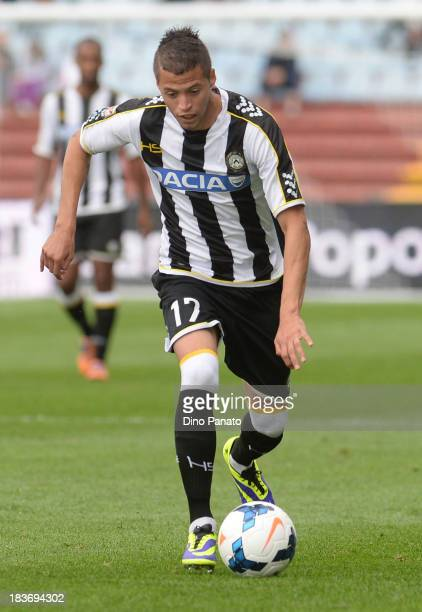 Alonso Nicolas Lopez of Udinese Calcio in action during the Serie A match between Udinese Calcio and Cagliari Calcio at Stadio Friuli on October 6...