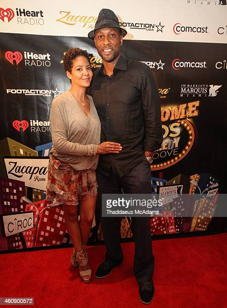 Alonzo and Tracy Mourning at JW Marriott Marquis on December 28 2014 in Miami Florida