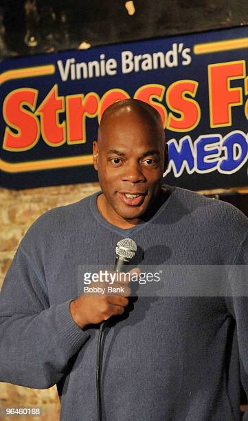 Alonzo Bodden performs at The Stress Factory Comedy Club on February 5, 2010 in New Brunswick, New Jersey.