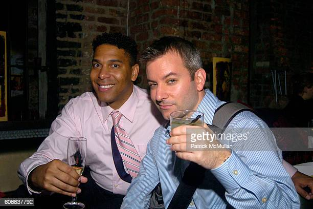 Alonzo Johnson and Steven Scialdone attend Drambuie Den Event with Special Guest Heather Vandeven at Level V on October 22 2007 in New York