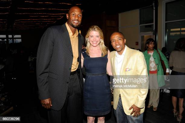 Alonzo Mourning Amy McFarland and Kevin Liles attend NEW YORKERS FOR CHILDREN 'Sports Network to Success' Event for Youth in Foster Care at Pier 61...