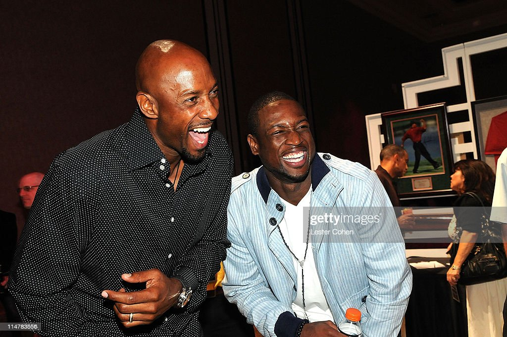 Alonzo Mourning and Dwyane Wade attend Tiger Jam 2009 at the Mandalay Bay Events Center on May 16, 2009 in Las Vegas, Nevada. **EXCLUSIVE**