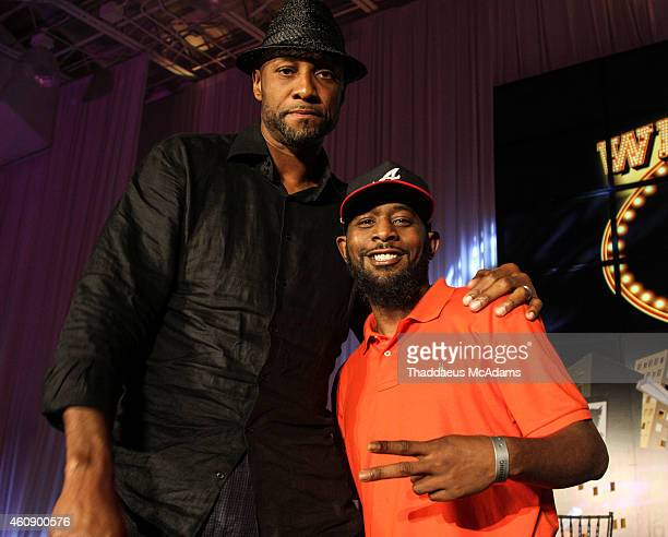 Alonzo Mourning and Karlous Miller at JW Marriott Marquis on December 28 2014 in Miami Florida