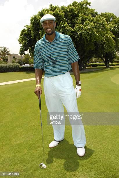 Alonzo Mourning attends the 2007 Deutsche Irie Weekend Celebrity Golf Tournament Miami Beach Florida