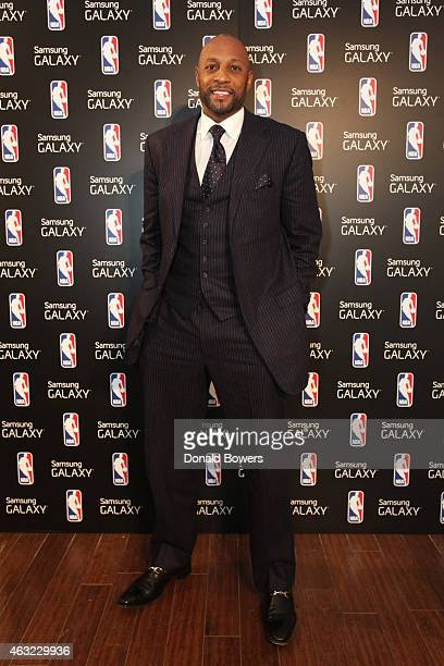Alonzo Mourning attends the Samsung Galaxy Studio during NBA All Star 2015 on February 11 2015 in New York City
