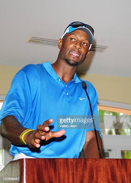 Alonzo Mourning attends the Summer Groove Golf Classic at Doral Golf Resort And Spa on July 14 2010 in Miami Florida